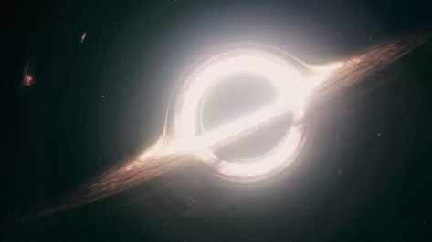From Interstellar: A black hole eating a star